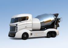 Camion de mélangeur concret d'isolement sur le fond bleu-clair