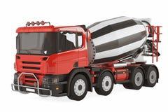 Camion de mélangeur de ciment d'isolement Photographie stock libre de droits