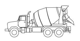 Camion de mélangeur de colle Image stock