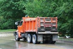 Camion de maintenance de ville Photographie stock