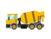 Camion de mélangeur de ciment de construction Voiture de construction de mélangeur concret De Photographie stock