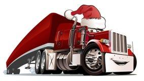 Camion de Noël de dessin animé Photographie stock libre de droits
