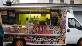 Camion de nourriture dans PIOTRKOWSKA 217 Image libre de droits