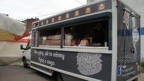 Camion de nourriture dans PIOTRKOWSKA 217 Photos libres de droits