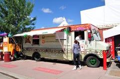Camion de nourriture de visibilité directe Compadres Photographie stock