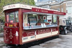 Camion de nourriture de Londres Images libres de droits