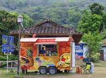 Camion de nourriture, Portobelo, Panama Photo stock