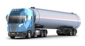 Camion de pétrolier. MON PROPRE DES Photographie stock