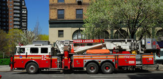 Camion de pompiers à New York City Photographie stock libre de droits