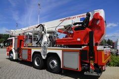 Camion de pompiers allemand image libre de droits