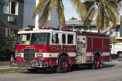 Camion de pompiers américain Photographie stock