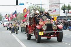 Camion de pompiers antique Photographie stock