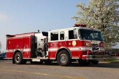 Camion de pompiers - Bradley, l'Illinois Photographie stock
