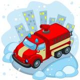 Camion de pompiers d'équitation Image libre de droits