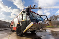Camion de pompiers d'aéroport Image stock