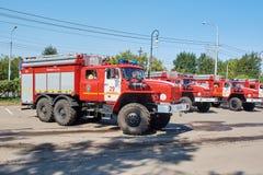Camion de pompiers d'URAL 5557 images libres de droits