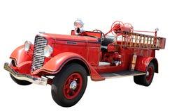 Camion de pompiers de cru Photographie stock