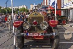 Camion de pompiers de LaFrance d'Américain Photographie stock