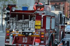 Camion de pompiers de New York Photo stock