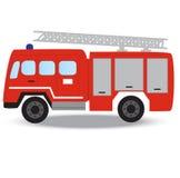 Camion de pompiers de rouge de secours de sapeur-pompier photographie stock libre de droits