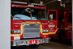 Camion de pompiers de Seattle Images libres de droits