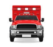 Camion de pompiers de secours d'ambulance d'isolement Photographie stock