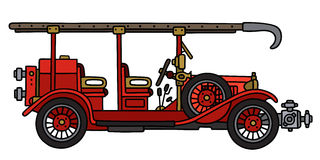 Camion de pompiers de vintage illustration libre de droits