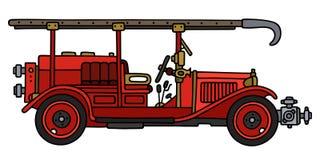 Camion de pompiers de vintage illustration de vecteur