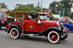 Camion de pompiers de vintage sur Woodward Image stock