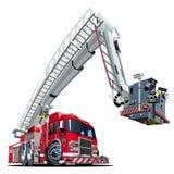Camion de pompiers de bande dessinée de vecteur Image libre de droits