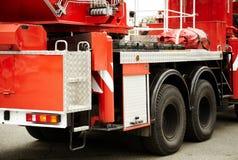 Camion de pompiers rouge Images libres de droits