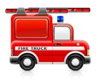 Camion de pompiers rouge Illustration Stock