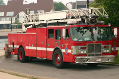 Camion de pompiers rouge Photographie stock