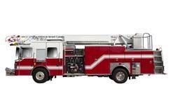 Camion de pompiers sur la précipitation Photographie stock libre de droits