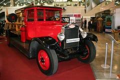 Camion de pompiers sur le châssis de l'AMO-4 (Otokar) Image stock