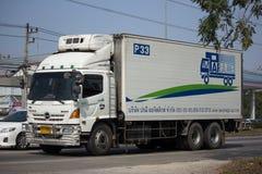 Camion de récipient de société de transport de logistique de Parame Images libres de droits