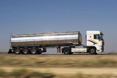 Camion de réservoir Photo libre de droits