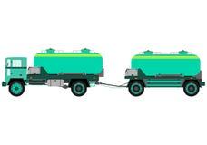 Camion de réservoir avec la remorque illustration de vecteur