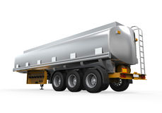 Camion de réservoir de stockage de pétrole d'isolement Photographie stock libre de droits