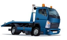 Camion de remorquage de dessin animé de vecteur Image libre de droits