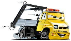 Camion de remorquage de dessin animé de vecteur Photo stock