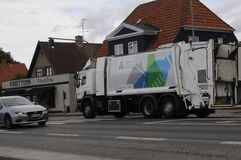 CAMION DE REYCLING Photo libre de droits