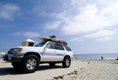 Camion de sauvetage de maître nageur Images libres de droits
