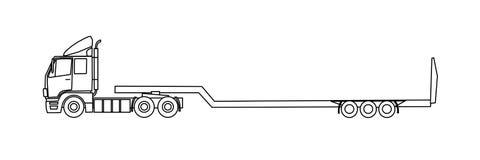 Semi remorque illustrations 1 337 semi remorque - Dessin de camion semi remorque ...