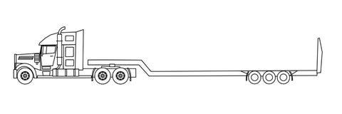 Troquez semi la remorque pour le transport de l - Dessin de camion americain ...