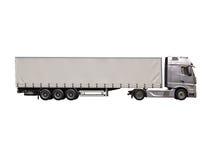 Camion de semi-remorque d'isolement Images stock