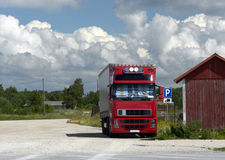 Camion de stationnement Image libre de droits