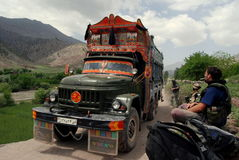 Camion de tintement en Afghanistan Photo libre de droits
