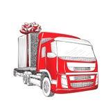 Camion de transport de la livraison Images libres de droits