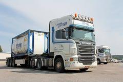 Camion de transport de Scania R620 Breakbulk Image stock